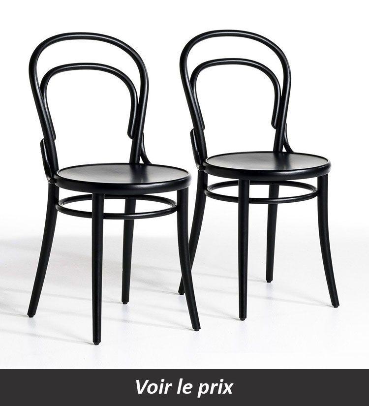 Chaise De Bistrot Trocket Lot De 2 Noire La Redoute Interieurs Chaises La Redoute Ventes Pas Cher Com Chaise Bistrot Chaise Chaise Design