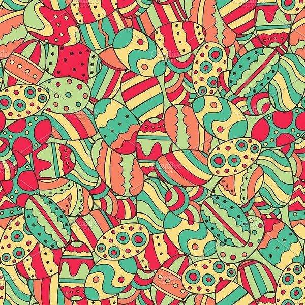 Bundle Easter Pattern by Alex and Aris on @creativemarket