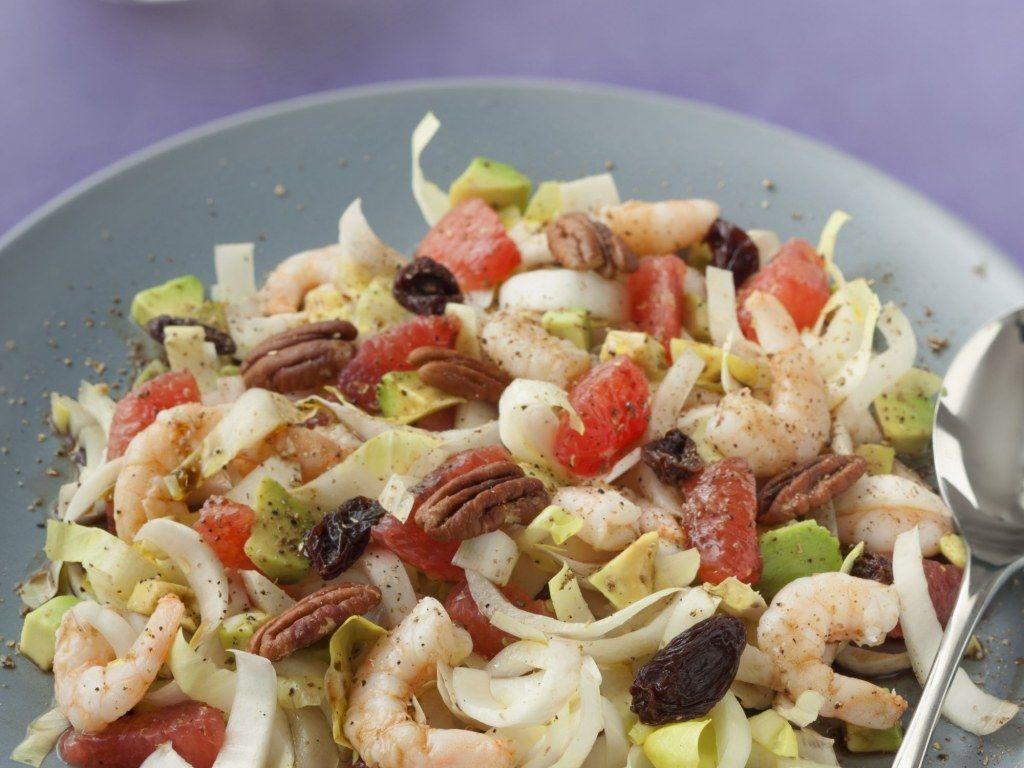 salade d 39 endives pamplemousse et crevettes recette a. Black Bedroom Furniture Sets. Home Design Ideas