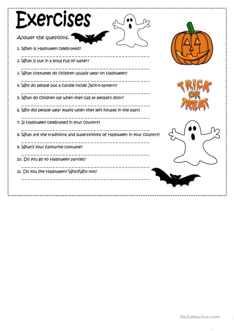 A Reading On Halloween Traditions Followed By Some Comprehension And Personal Experience Halloween Worksheets Halloween Reading Comprehension Halloween Reading [ 1079 x 763 Pixel ]