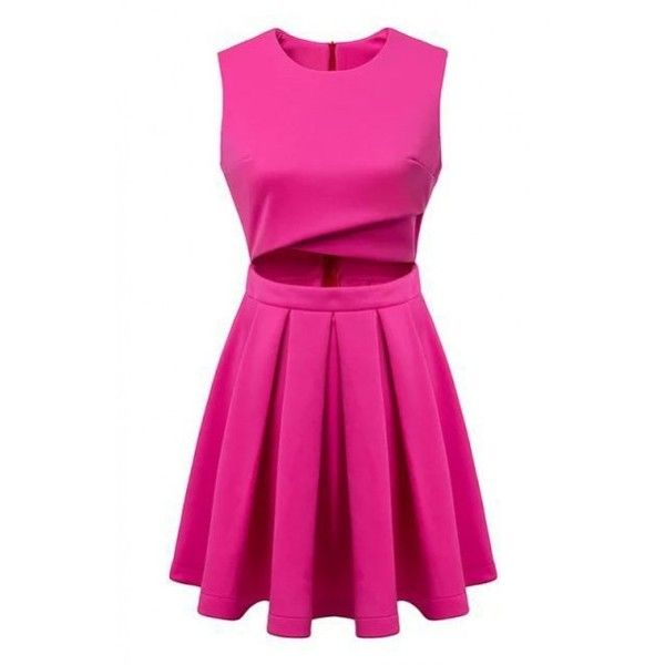 Lucluc Fuchsia Scoop Sleeveless Skater Dress 34 Aud