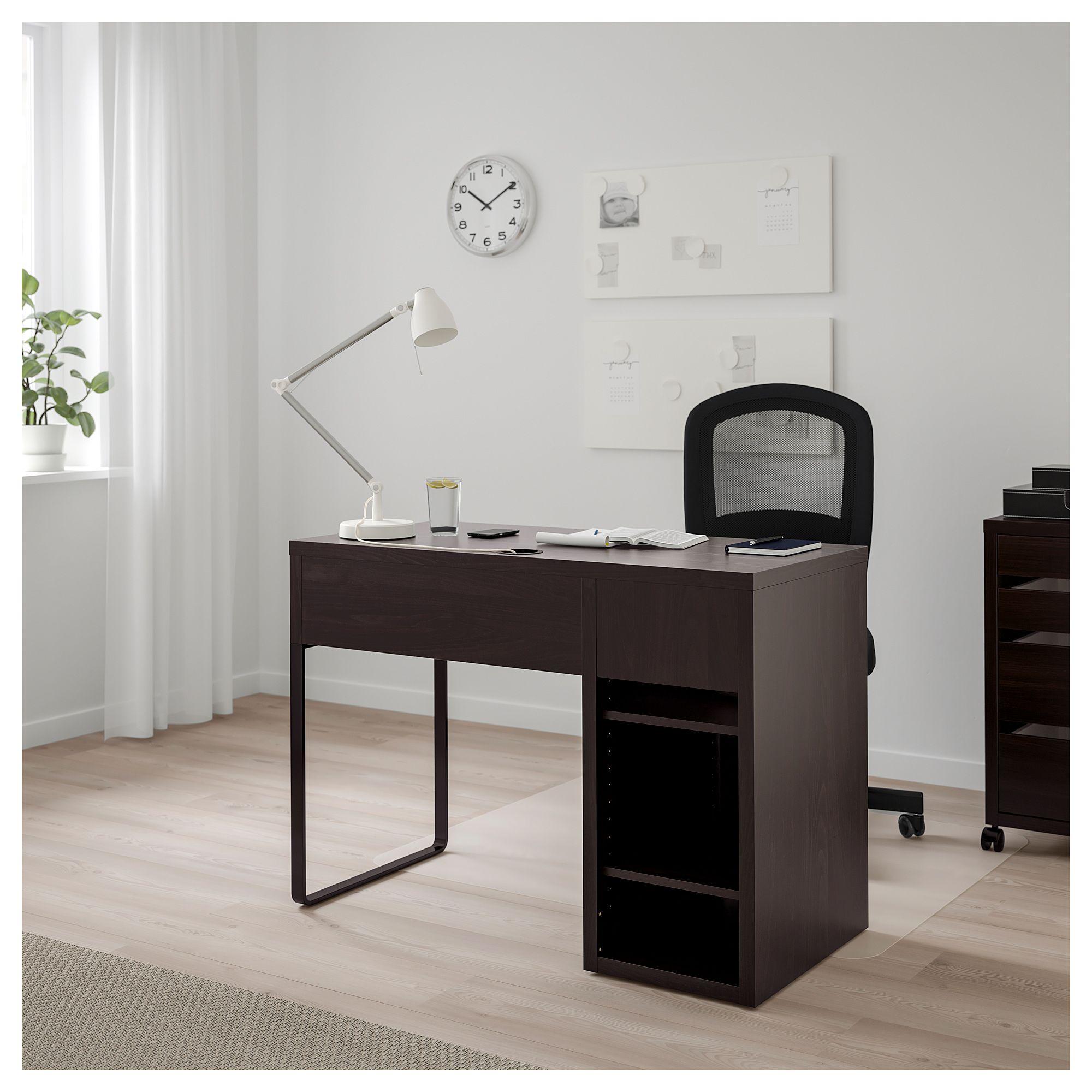 Micke Desk Black Brown Ikea Canada Ikea Black Office Furniture Black Desk Micke Desk