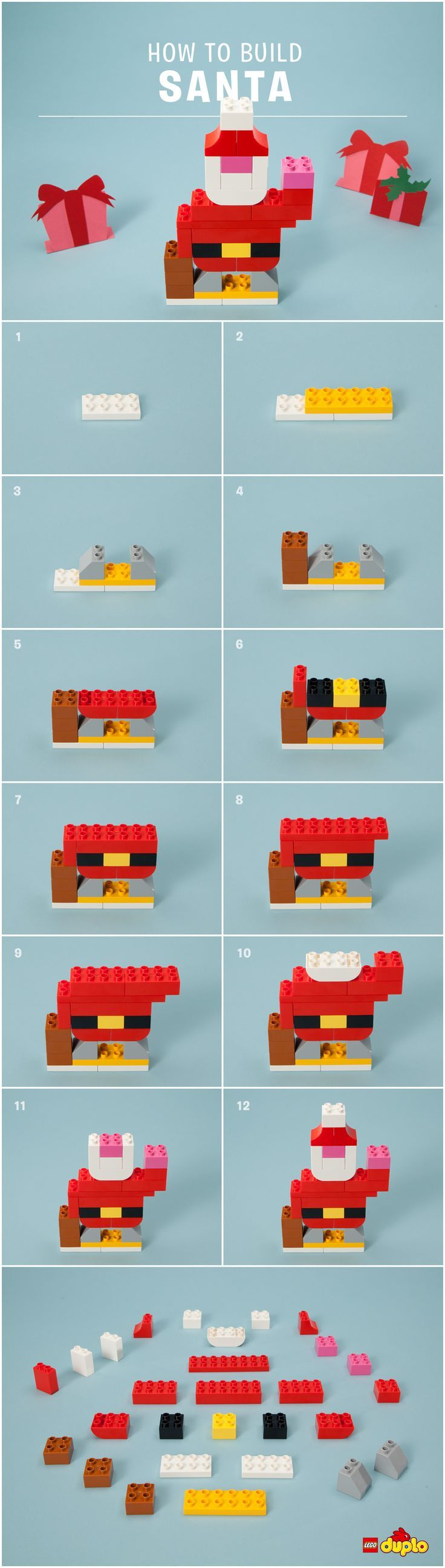 Ho Ho Ho! Your little one can sweeten the holiday countdown by building their very own LEGO Santa!
