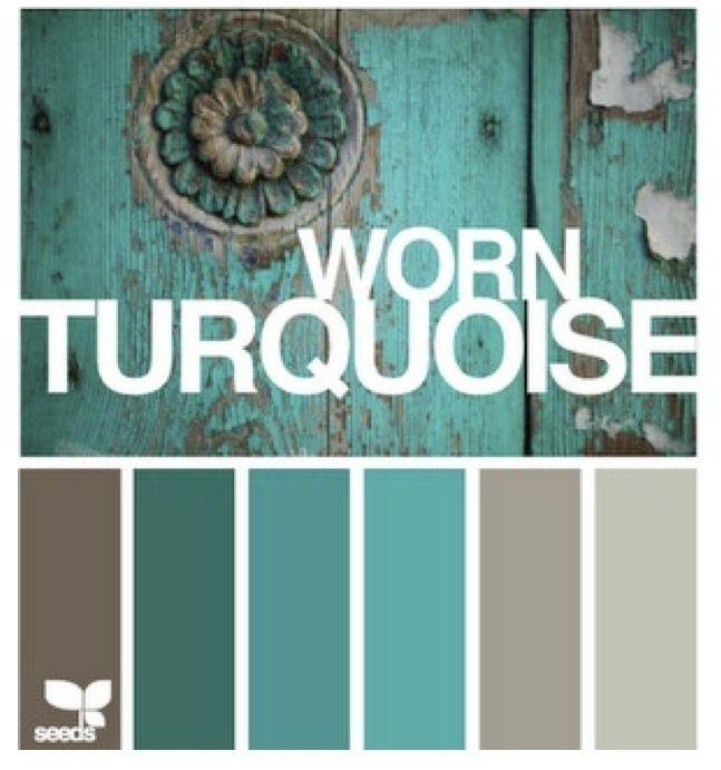 Warm Bedroom Color Schemes: Warm Turquoise Color Palette.