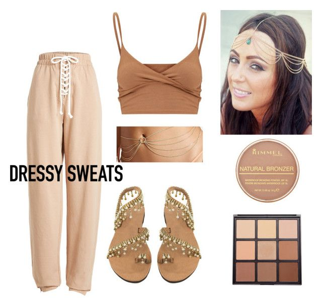 """""""Nude tones"""" by curlyelias ❤ liked on Polyvore featuring Puma, Forever 21, Rimmel and Morphe"""