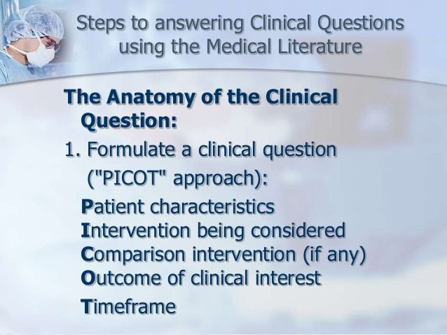 PICOT Question Nursing Skills And How To's Pinterest Nclex