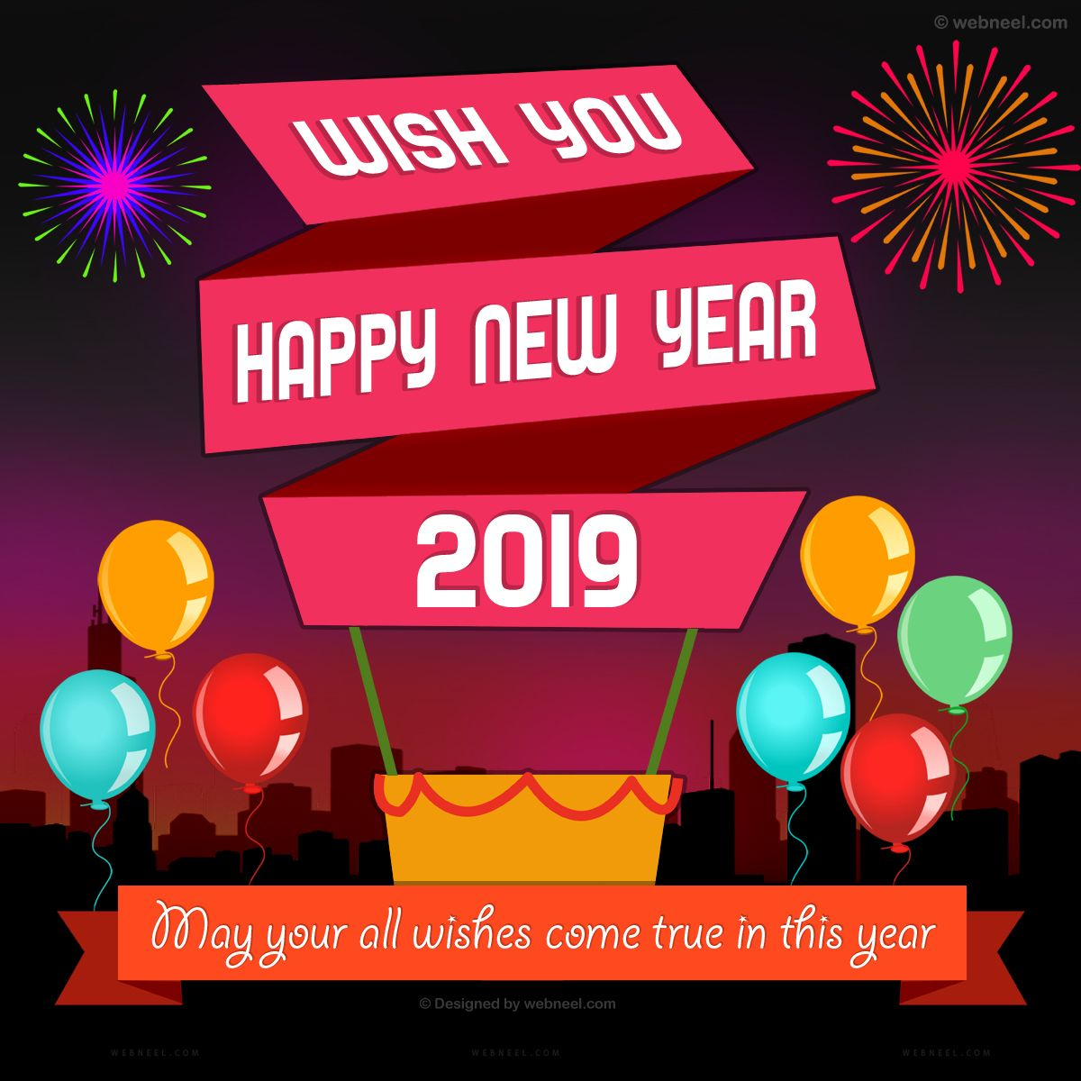 50 Best New Year Greeting Card Designs From Top Designers 2021 Happy New Year Cards Birthday Card Template Happy New Year Greetings
