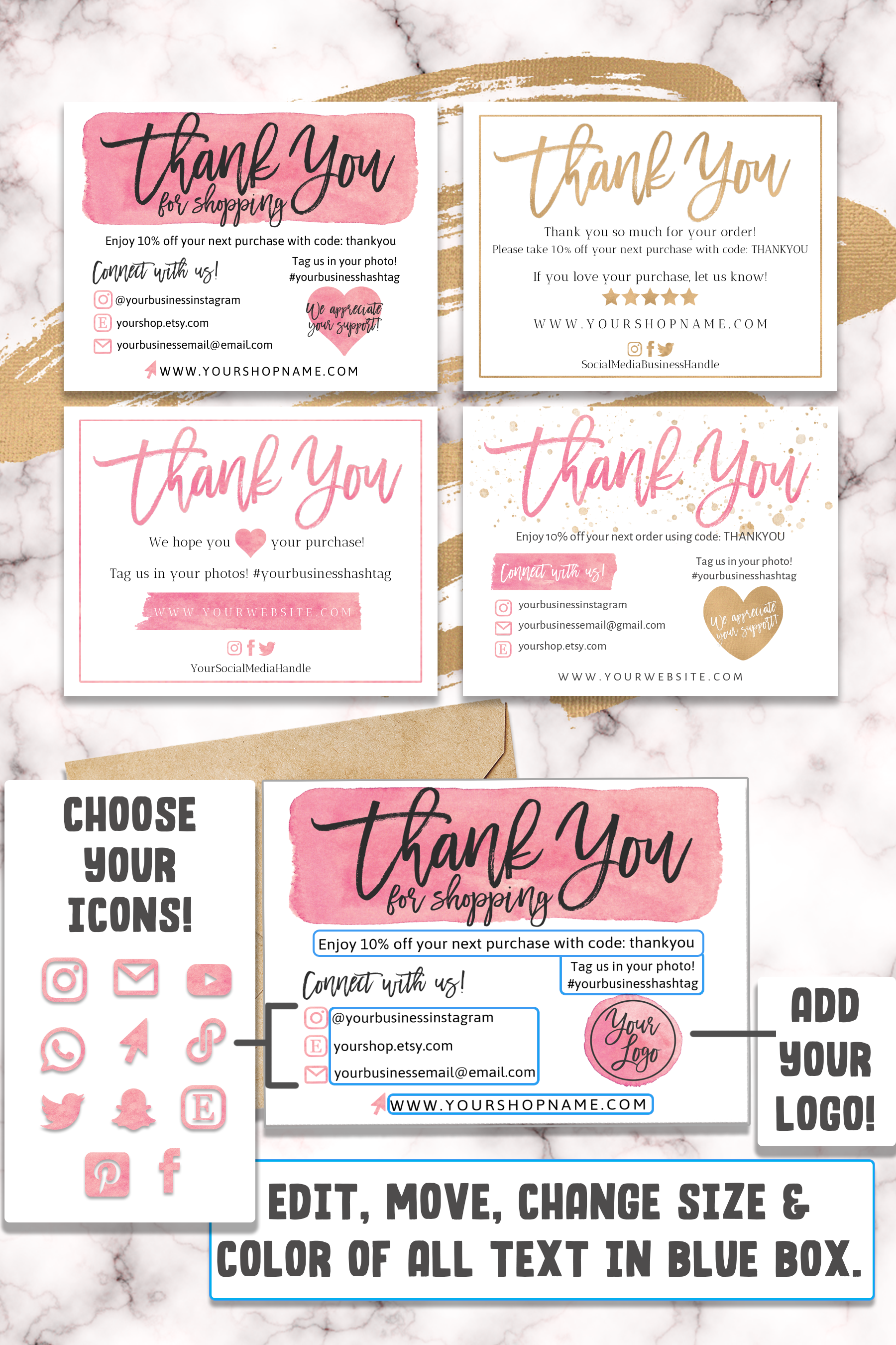 DIY Printable Thank You Card for Your Order Small