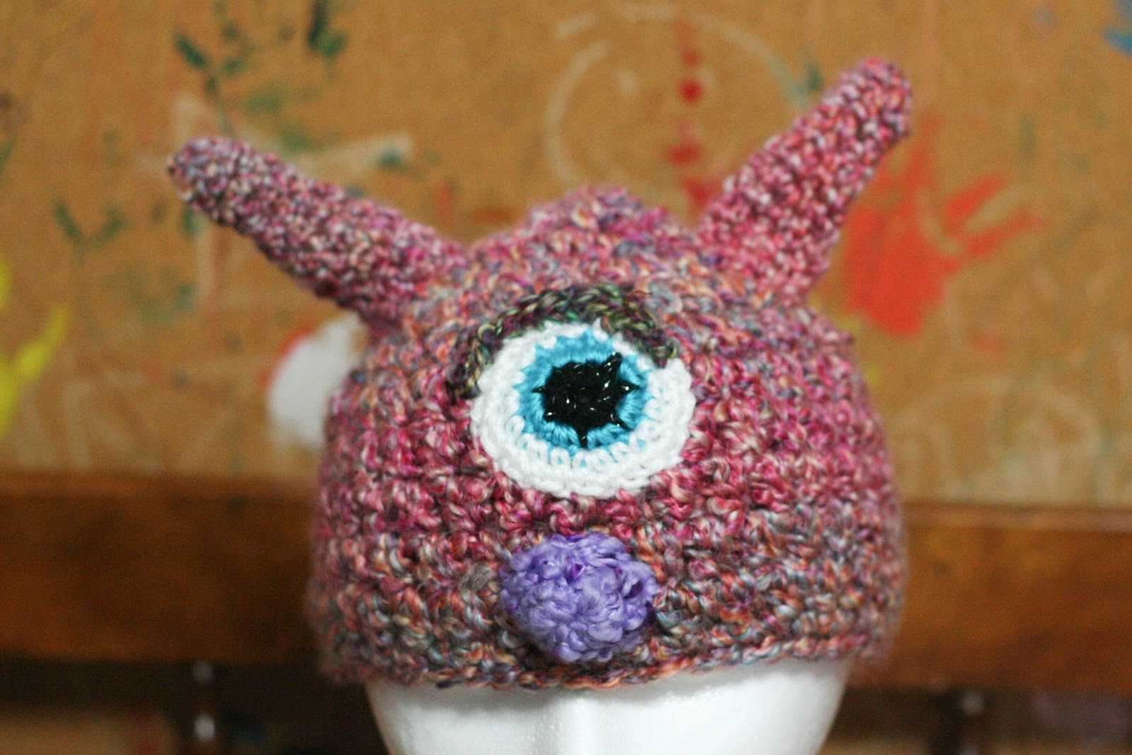 Monster Hat: LAYLA! | Available exclusively on Monster Hat Island! Check out all the one-of-a-kind crochet monster hats at monsterhatisland.com.