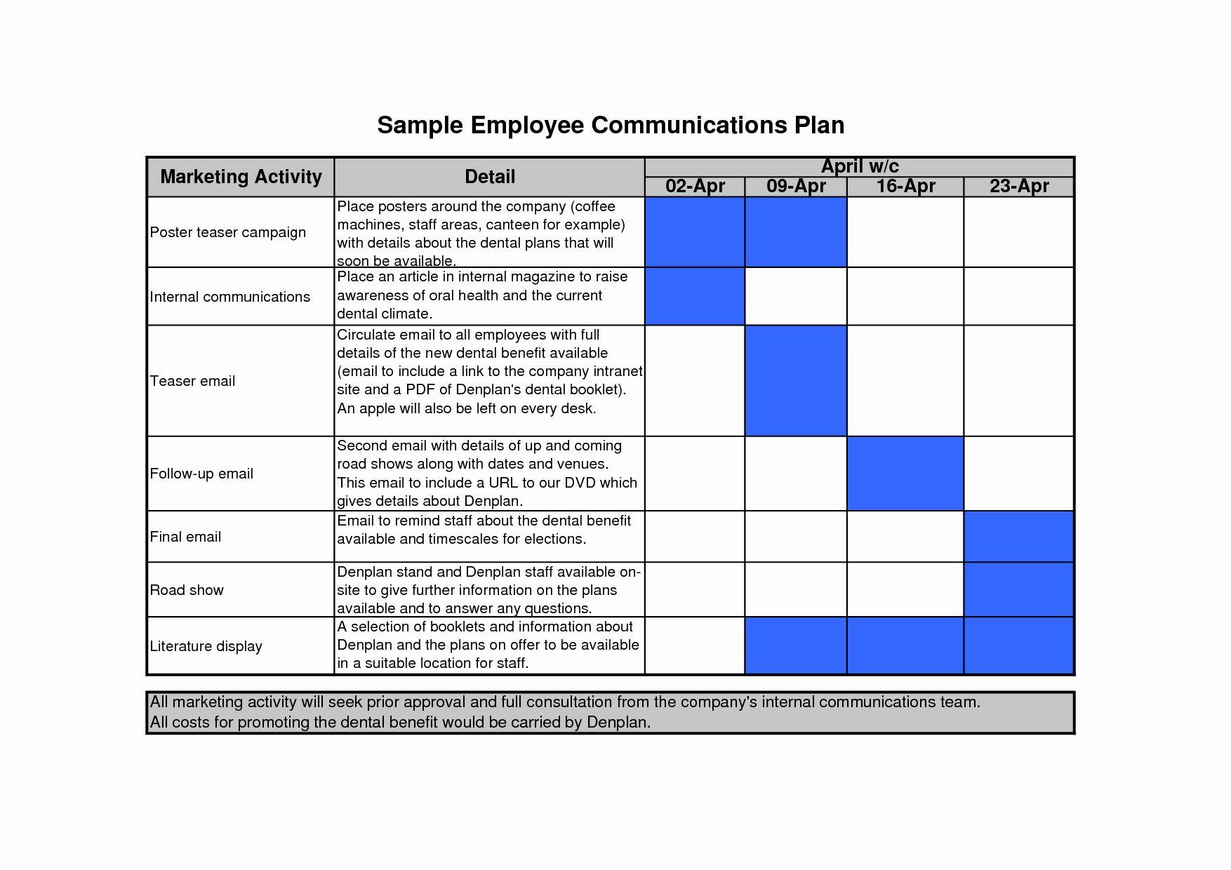 25 Internal Communications Plan Template in 2020