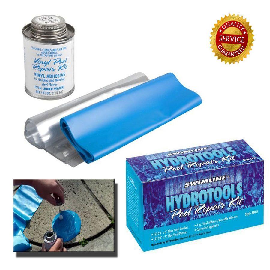 Vinyl Pool Repair Kit Fix Hole Rip Above Ground Swimming Plastic