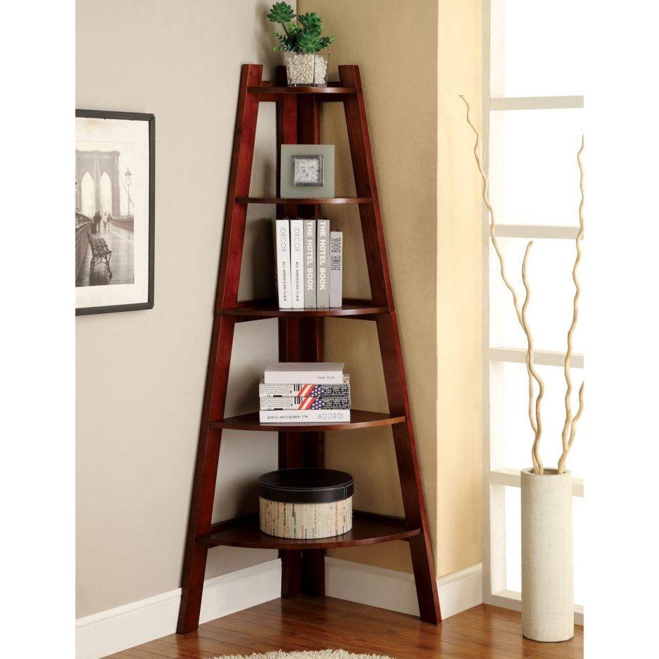Tripod Multi Purpose Shelves With Teak Wood Decorative Shelves And Pyramid Corner Shelves Living Room Decor Home Furniture Furniture Of America