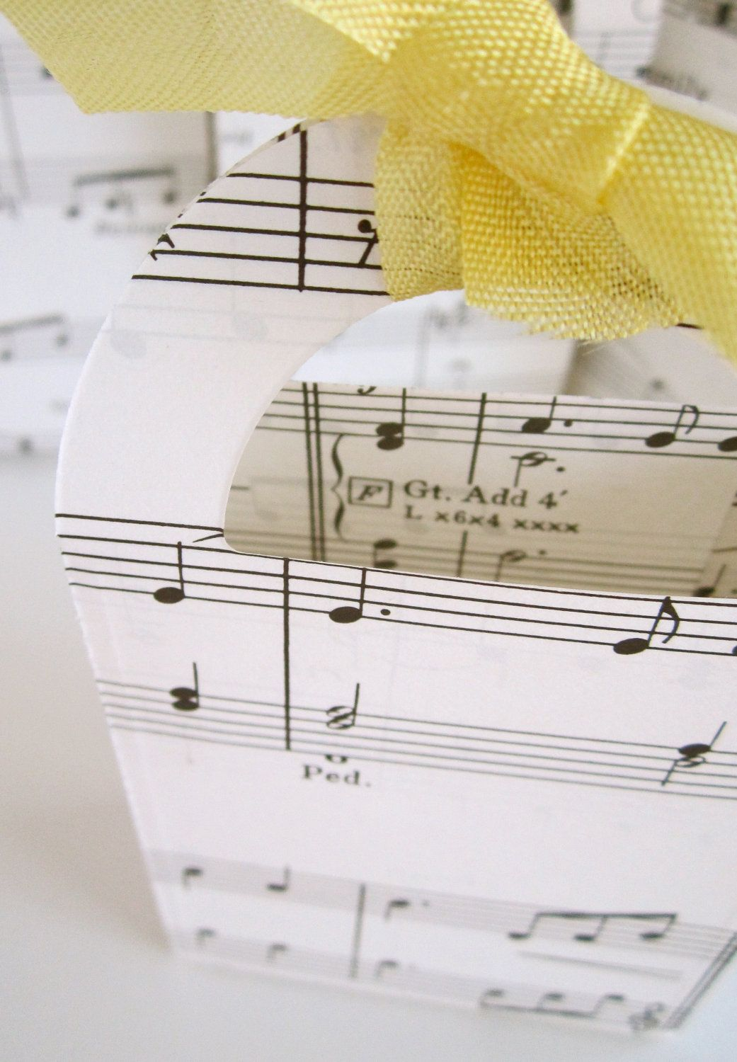 Vintage sheet music treat bags favor bags vintage style black and ...