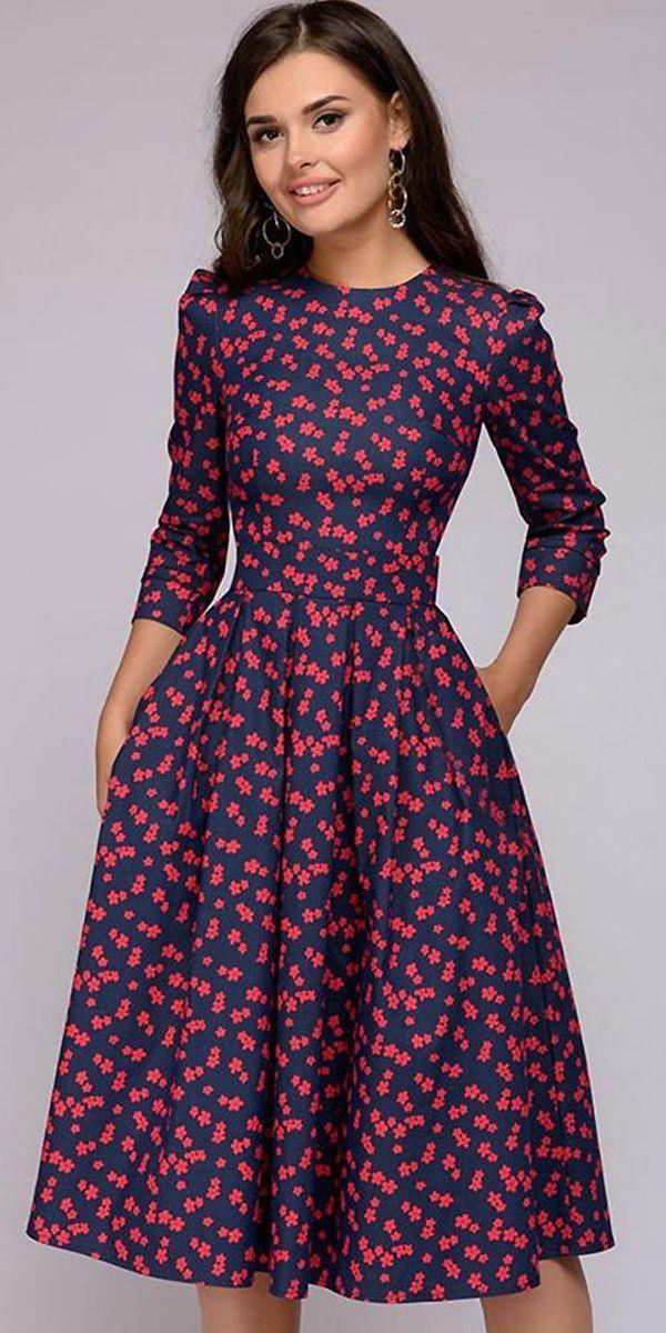 New Striped O Neck Half Sleeve Women Dressess Festa Modest Autumn Party Dress