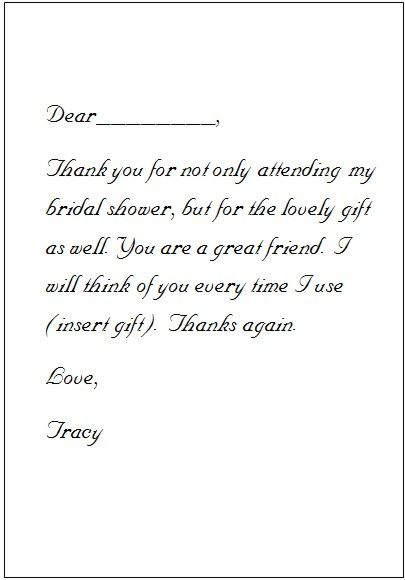 heres a template to help you get started if youre feeling stuck on how to write a thank you note notice that you insert the name of the person who gave