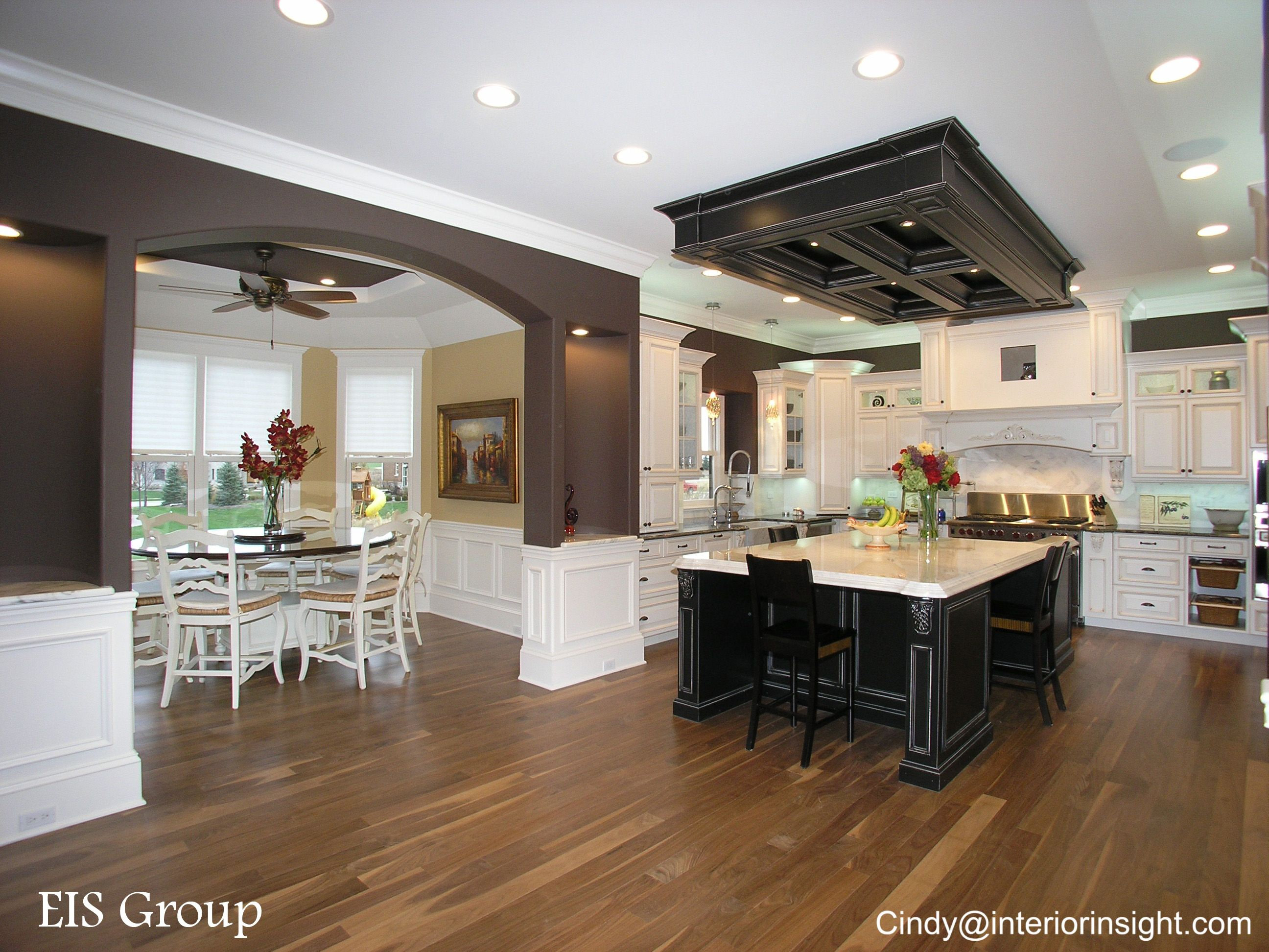 Mix and Match white and black kitchen Cabinets with custom ...