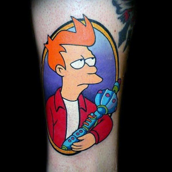 80 Futurama Tattoo Designs For Men - Animation Ink Ideas