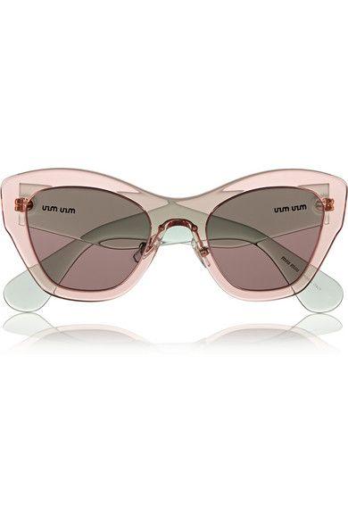 MIU MIU Two-tone cat eye acetate sunglasses   sunglass game must be ... 1617094ed0