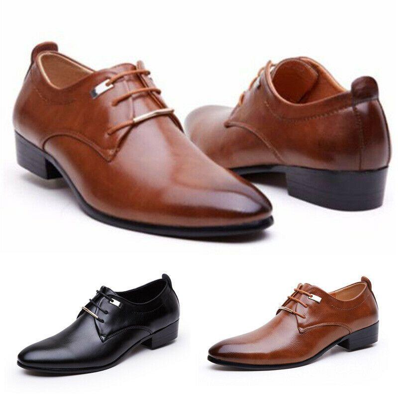 Hombre Casual Oficina Zapatos Cordones sin Formal Fiesta