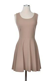 Caramel Latte Dress - taupe