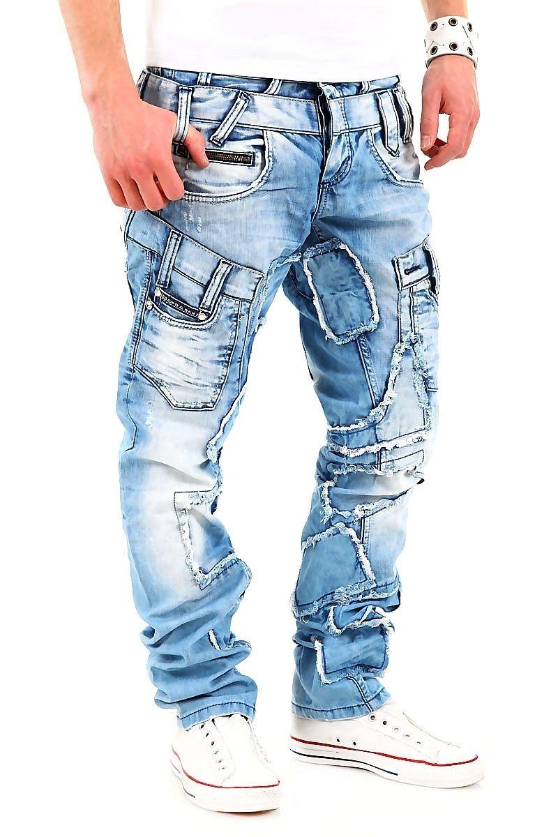 cipo baxx cipo baxx jeans destroyed patchwork hellblau c 989 cipo baxx 6713229f56