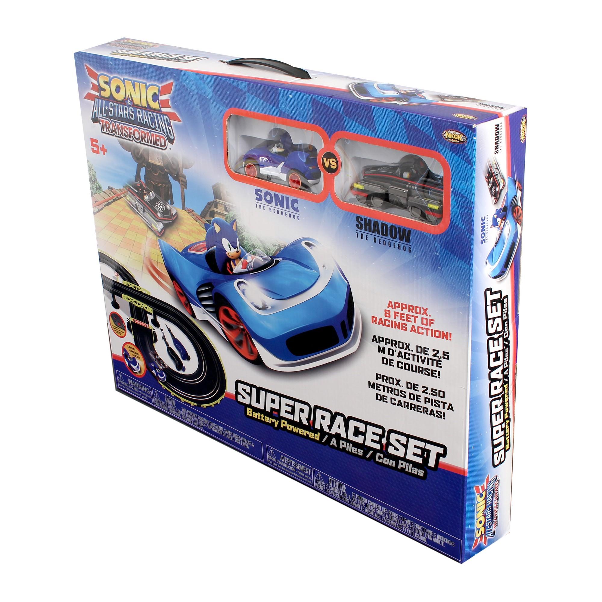 Nkok Rc Sonic The Hedgehog All Stars Racing Transformed Slot Slot Car Sets Sonic Shadow Racing