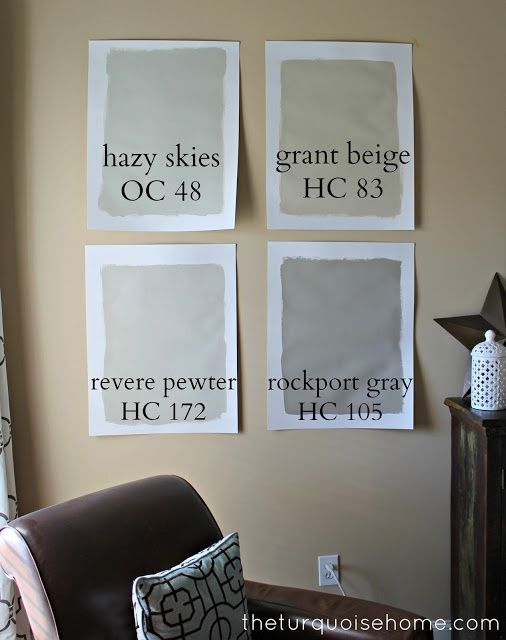 Liking revere pewter and rockport gray together - both by Benjamin Moore