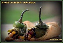 Envuelto de pimientos verdes rellenos, un reto estupendo!!