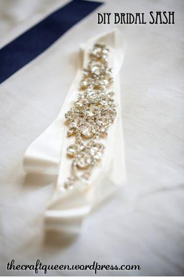 Diy Wedding Bridal Sash