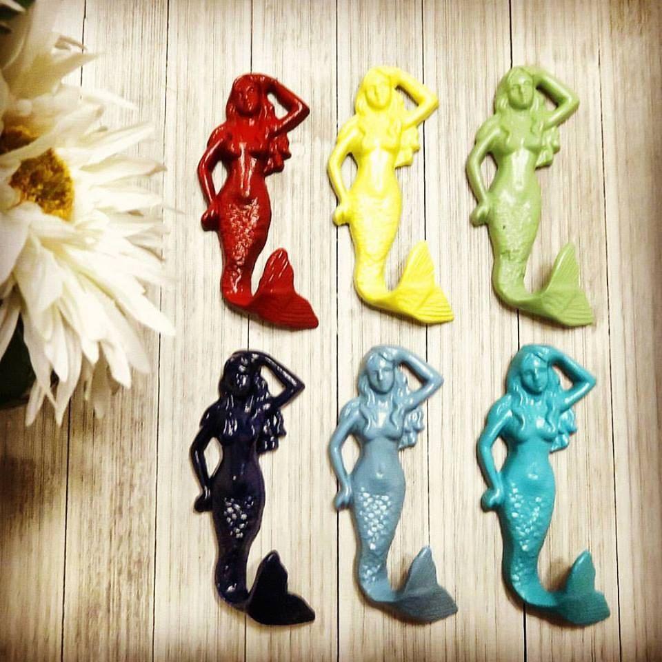 Mermaid, Mermaid Decor, Mermaid Wall Decor, Wall Hooks, Key Holder ...