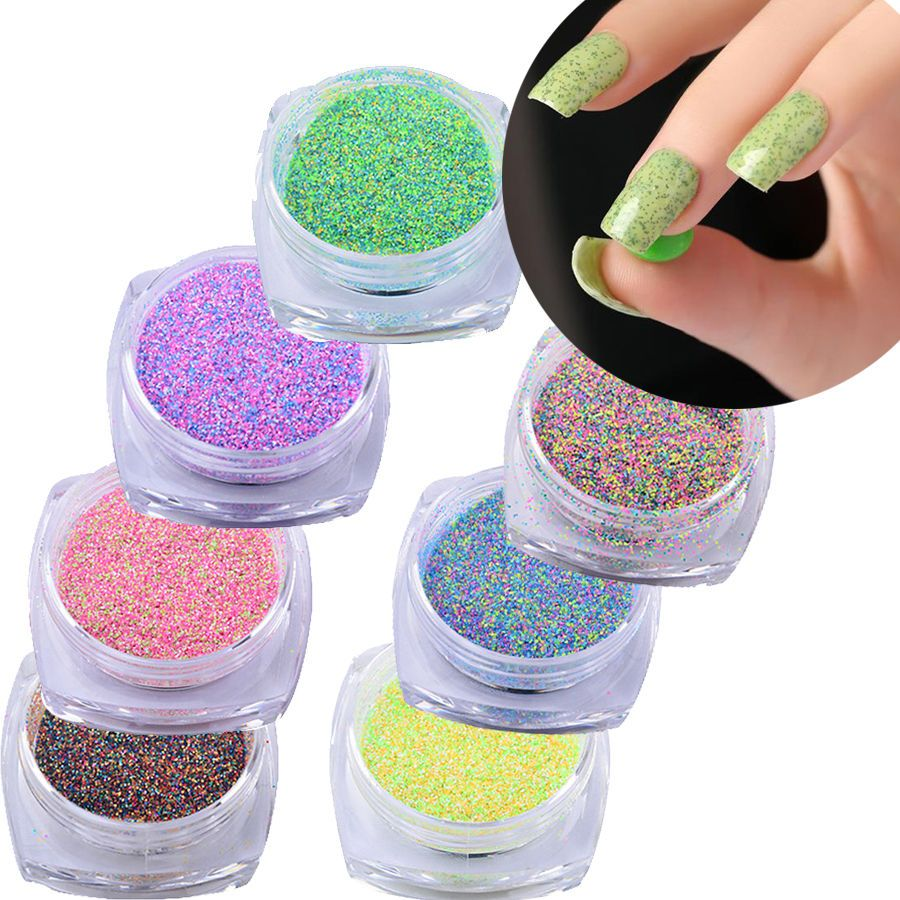 Candy Nail Beauty Art Sequins Glitter Powder for Manicure Tips Tool ...