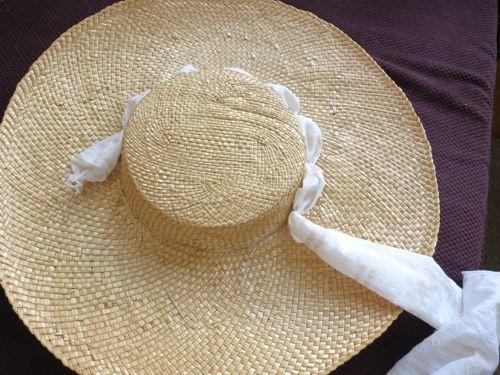 Vintage Straw Doll Hat  Large USA