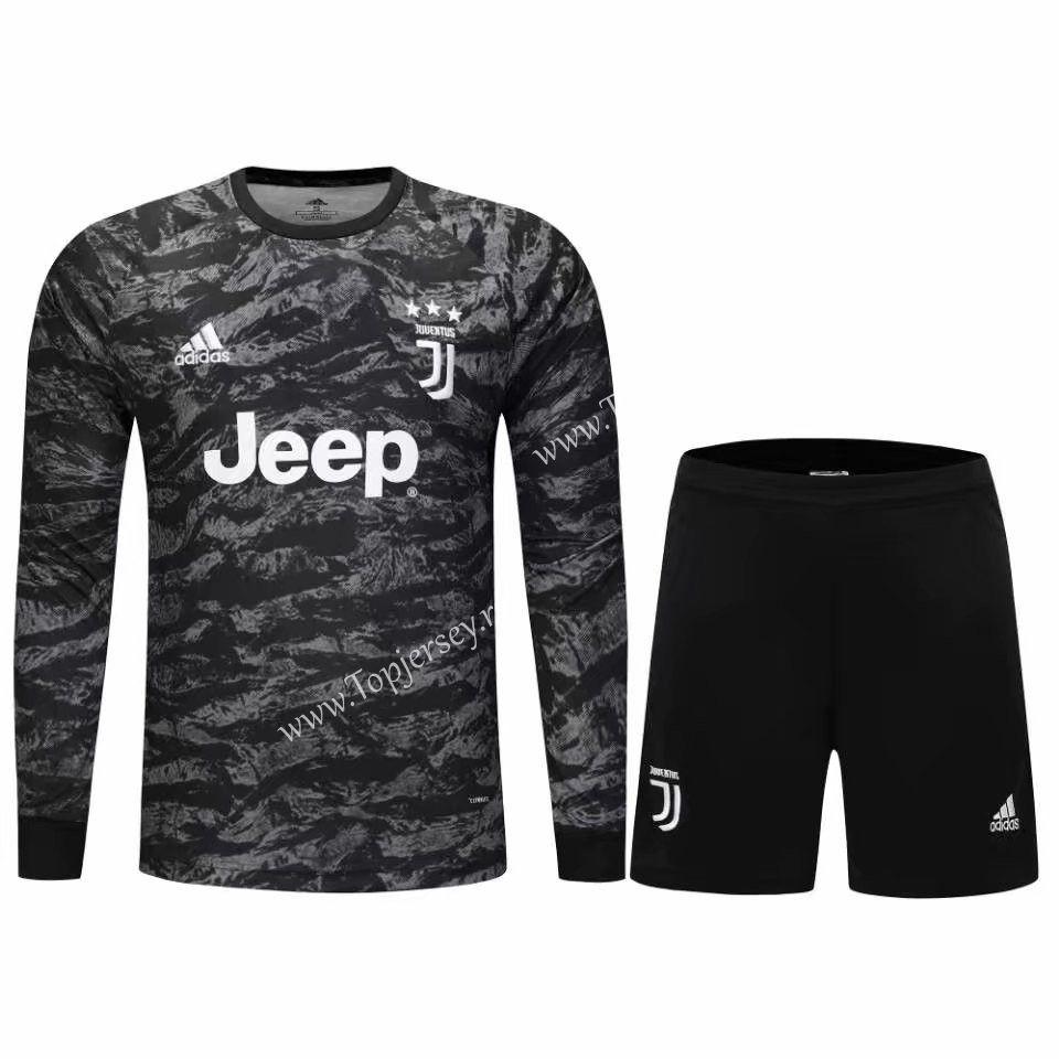 2019-2020 Juventus Goalkeeper Black LS Thailand Soccer Uniform ...