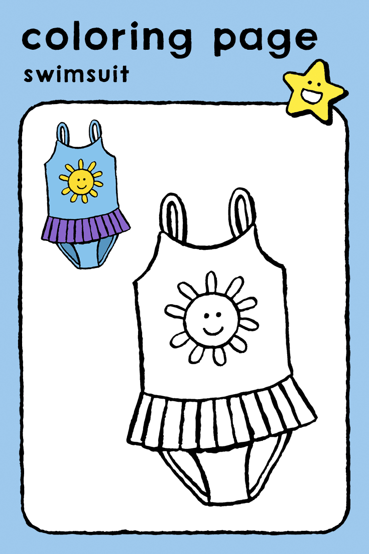 Swimsuit Kiddicolour Coloring Pages Coloring Pages For Girls Swimsuits