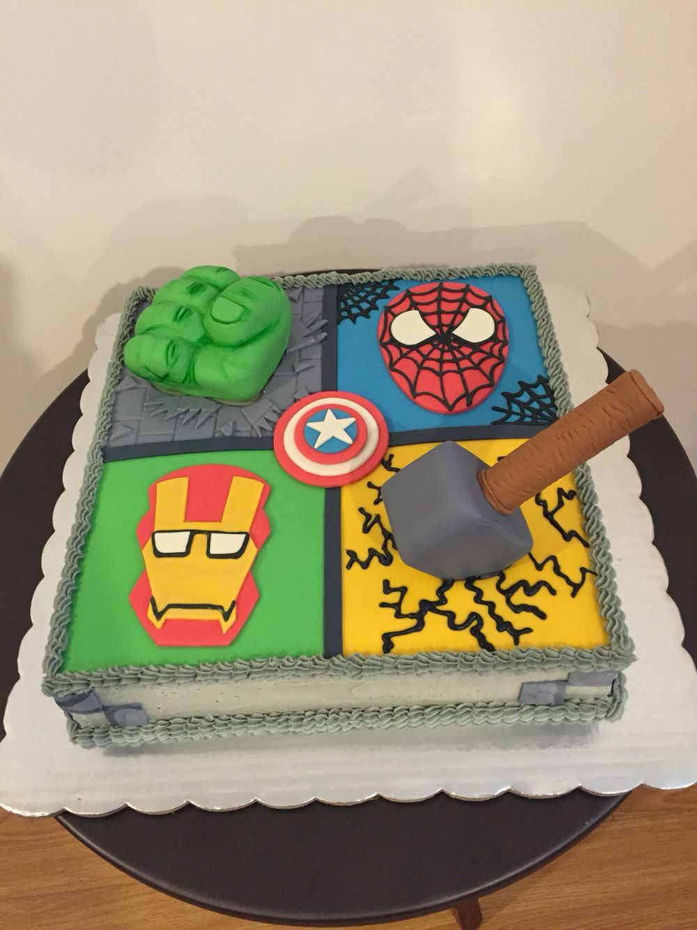 S per hero avengers cake chocolate nutella hulk spiderman - Decoracion piso hombre ...