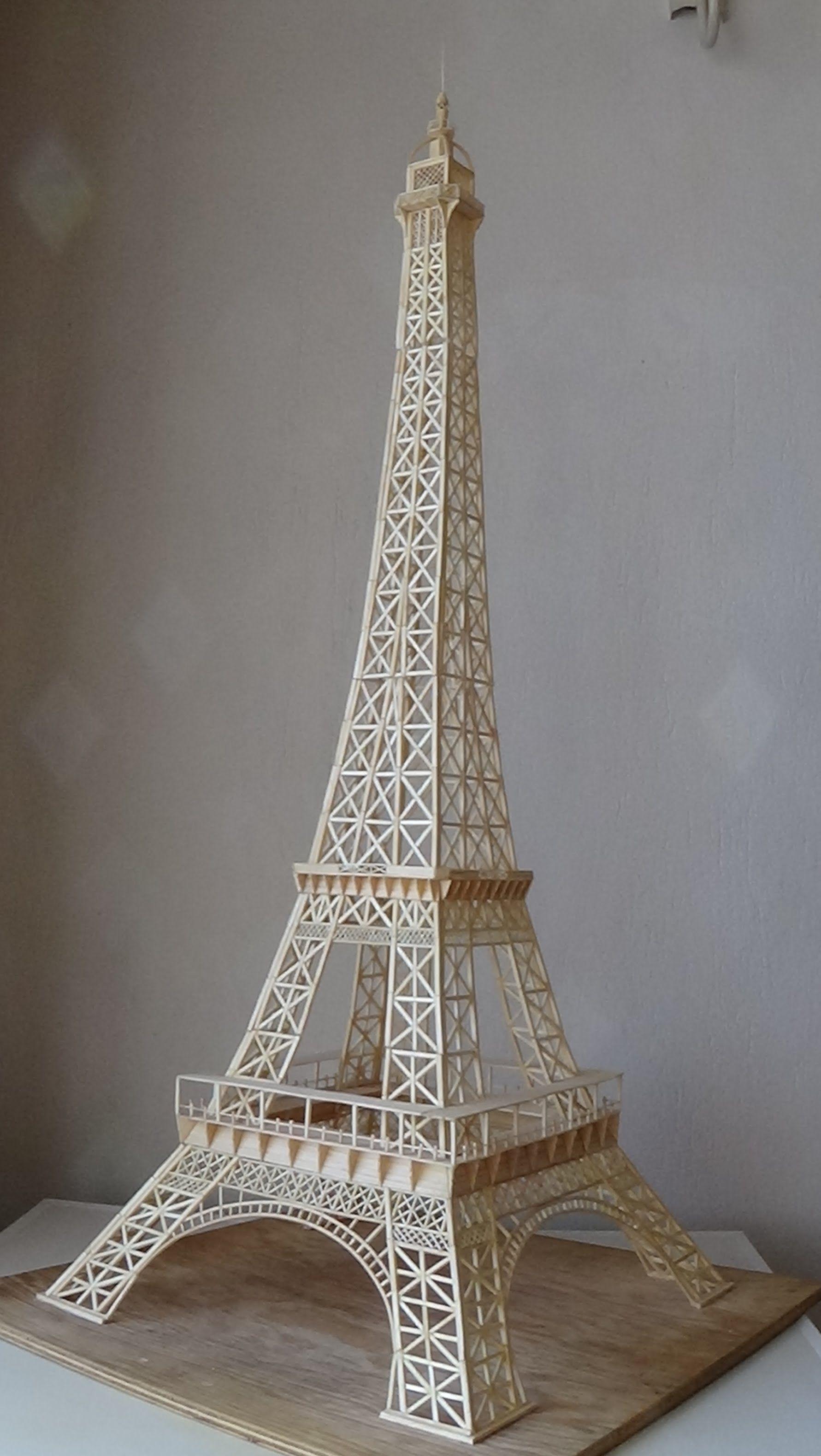 Make Eiffel Tower With Sticks