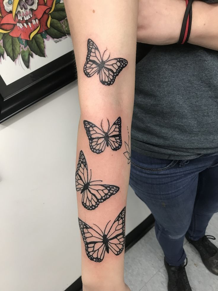 Photo of 4 butterfly tattoo – #