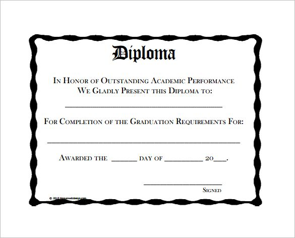 Diploma Certificate Templates  Free Word Pdf Documents