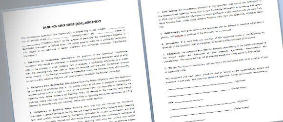 presentation document template presentation document templates pet - nda template word