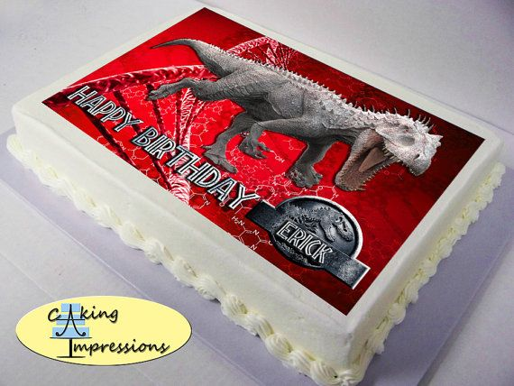 Jurassic World Edible Image Cake Topper By