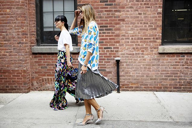 The Best Beauty Street Style From NYFW Spring 2016: Laura Comolli and Racz Clara   allure.com
