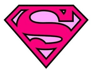 details about superman logo pink iron on t shirt transfer a4 rh pinterest ph super woman logo outline super woman logo with msw inside it