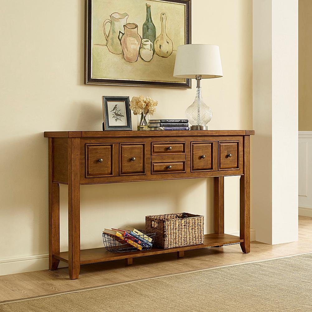 Crosley Furniture Sienna Entryway Table   Moroccan Pine