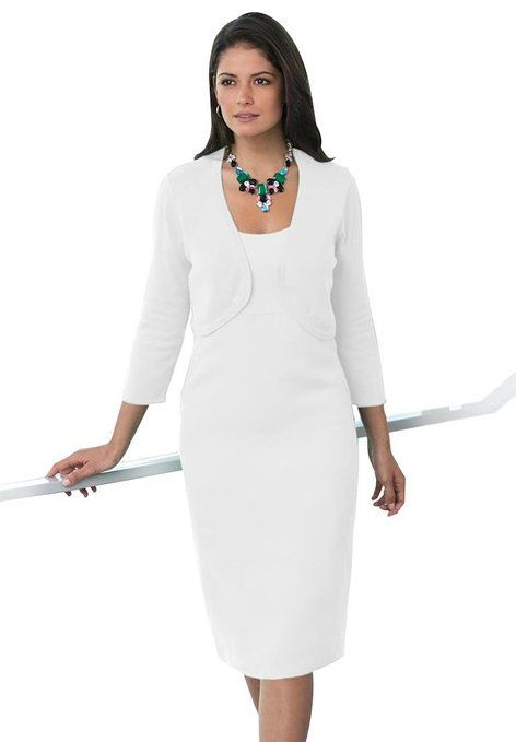 White Plus Size Dress Very Chic Impeccable Tailoring And Very