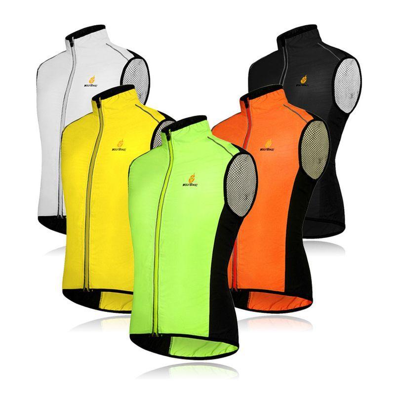 Cycling Vest Windproof MTB Downhill Sleeveless Jacket Bicycle Jersey Reflective