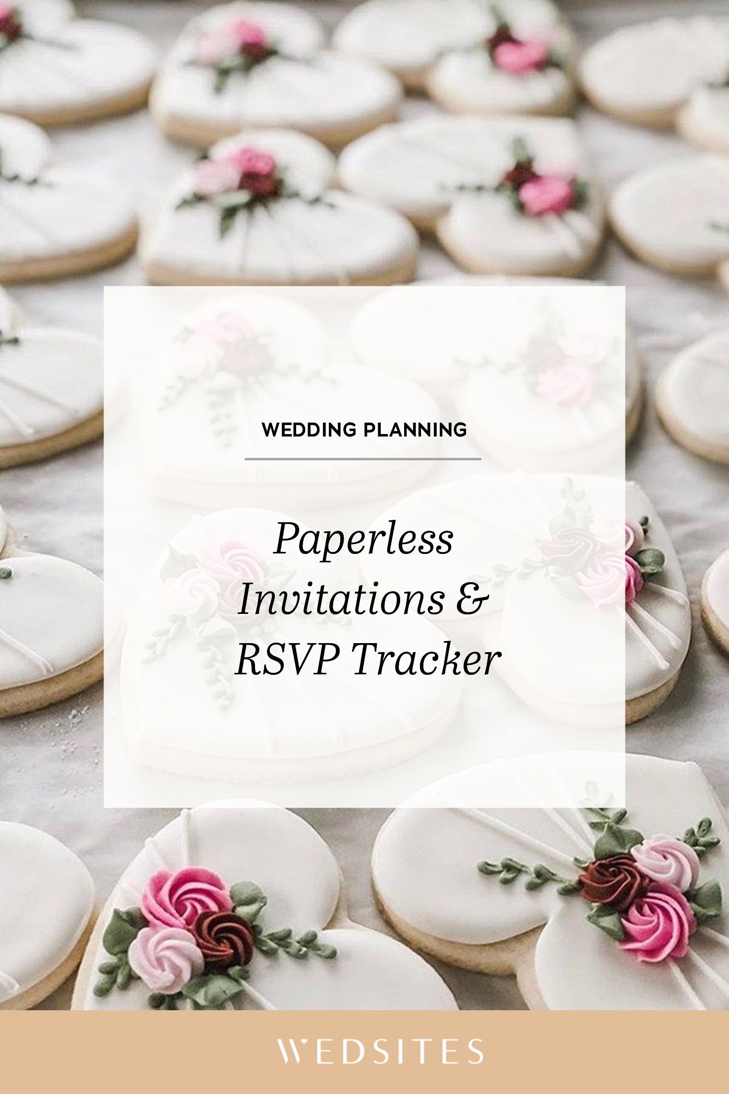 Paperless Invitations & RSVP Tracker in 2020 Wedding