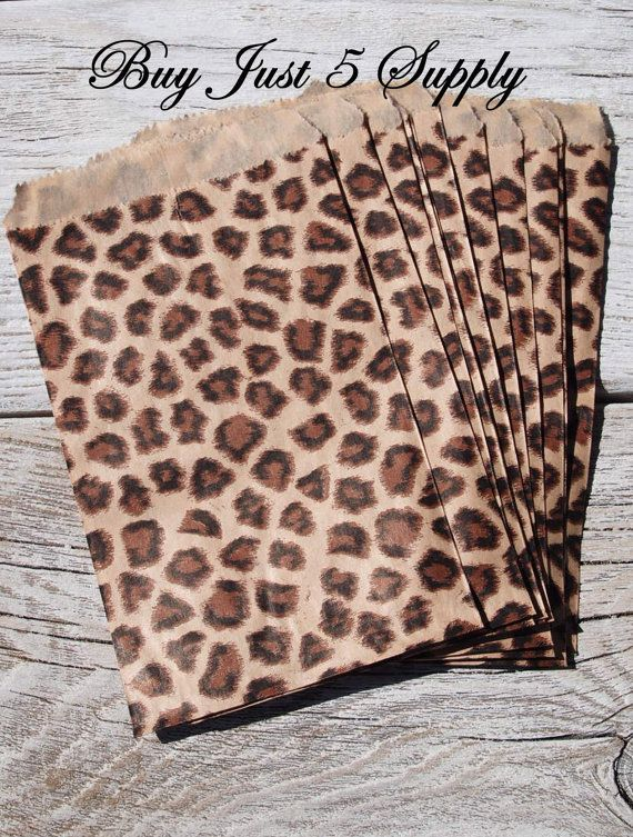 100 Bulk Animal Print Paper Gift Bags  Just 5 by BuyJust5Supply, $5.00