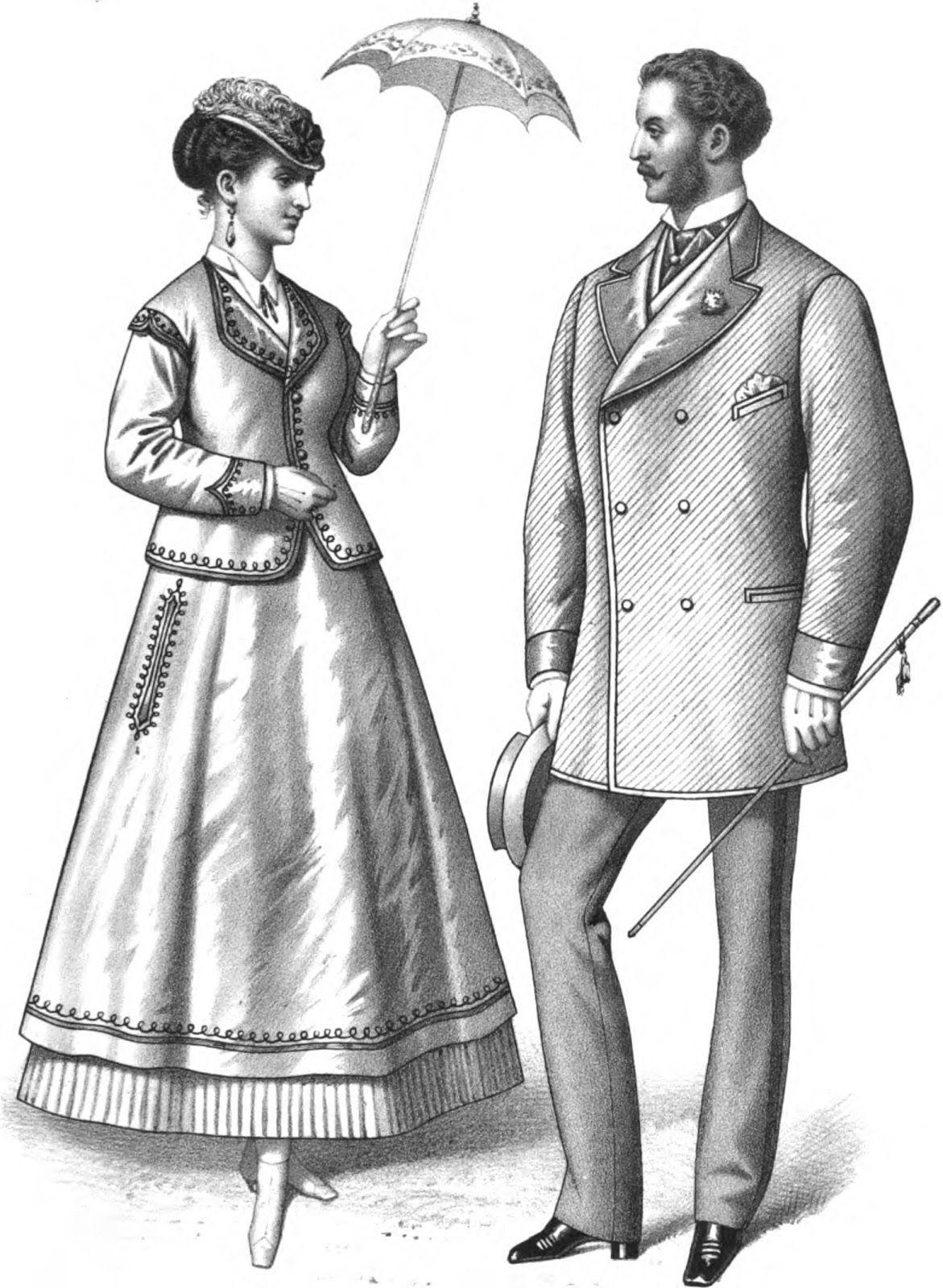 Victorian European Men Clothes