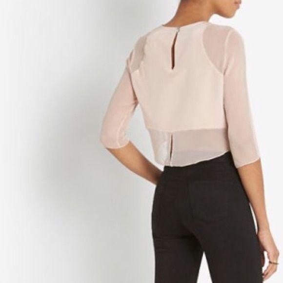 fe4c24985abb8 Elizabeth and James Enno Crop Top Blush 100% silk. Blush