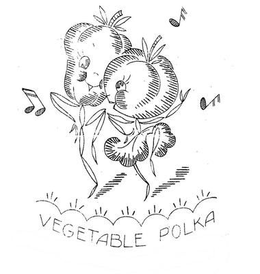 Vogart 656 Animated Anthromorphic Vegetables for Linens. A
